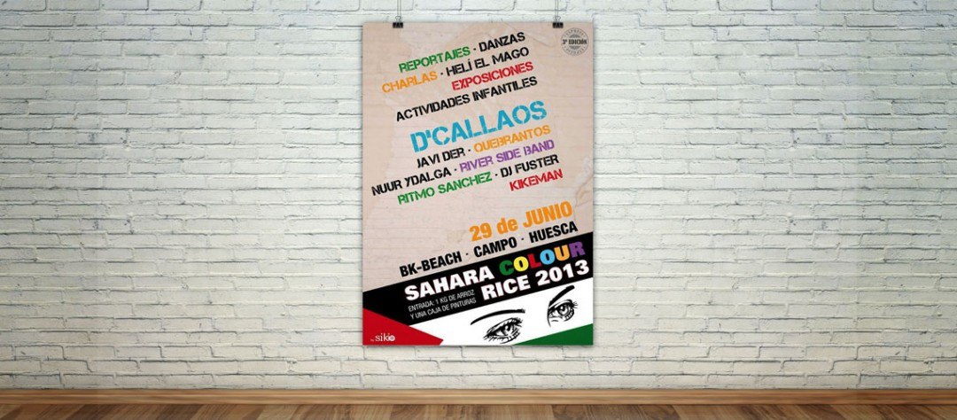 Carteleria Sahara Colour Rice 2013