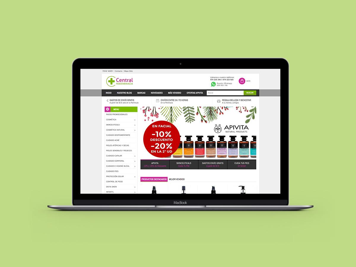 Web Design Farmacia Central Tienda Online