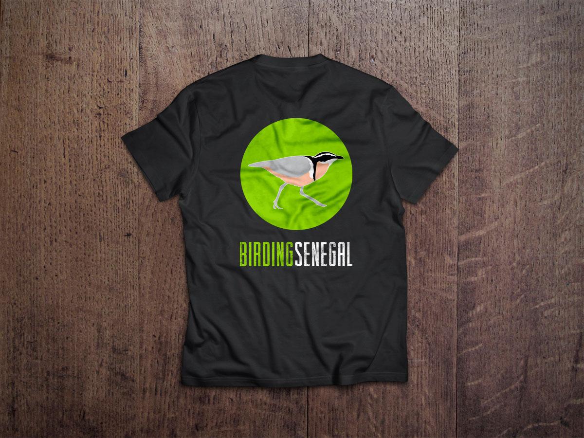 Camiseta Birding Senegal Merchandasing