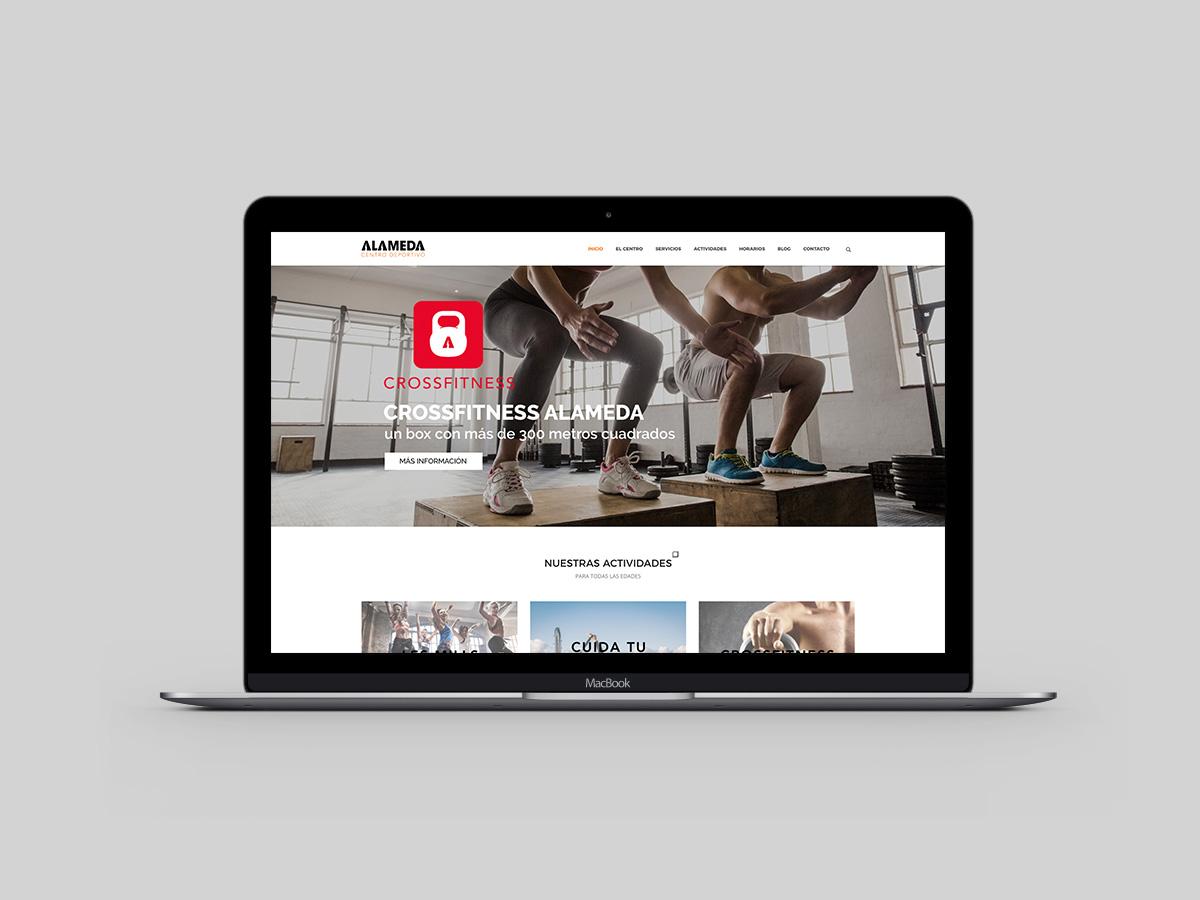 Web Design Alameda Centro Deportivo Huesca