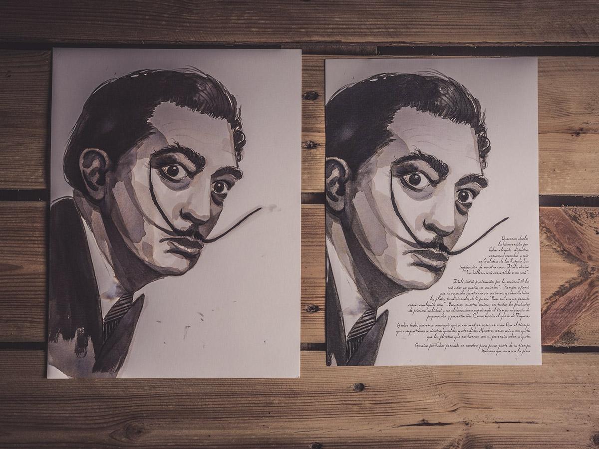 Ilustracion Carta Restaurante Galatea de las Esferas