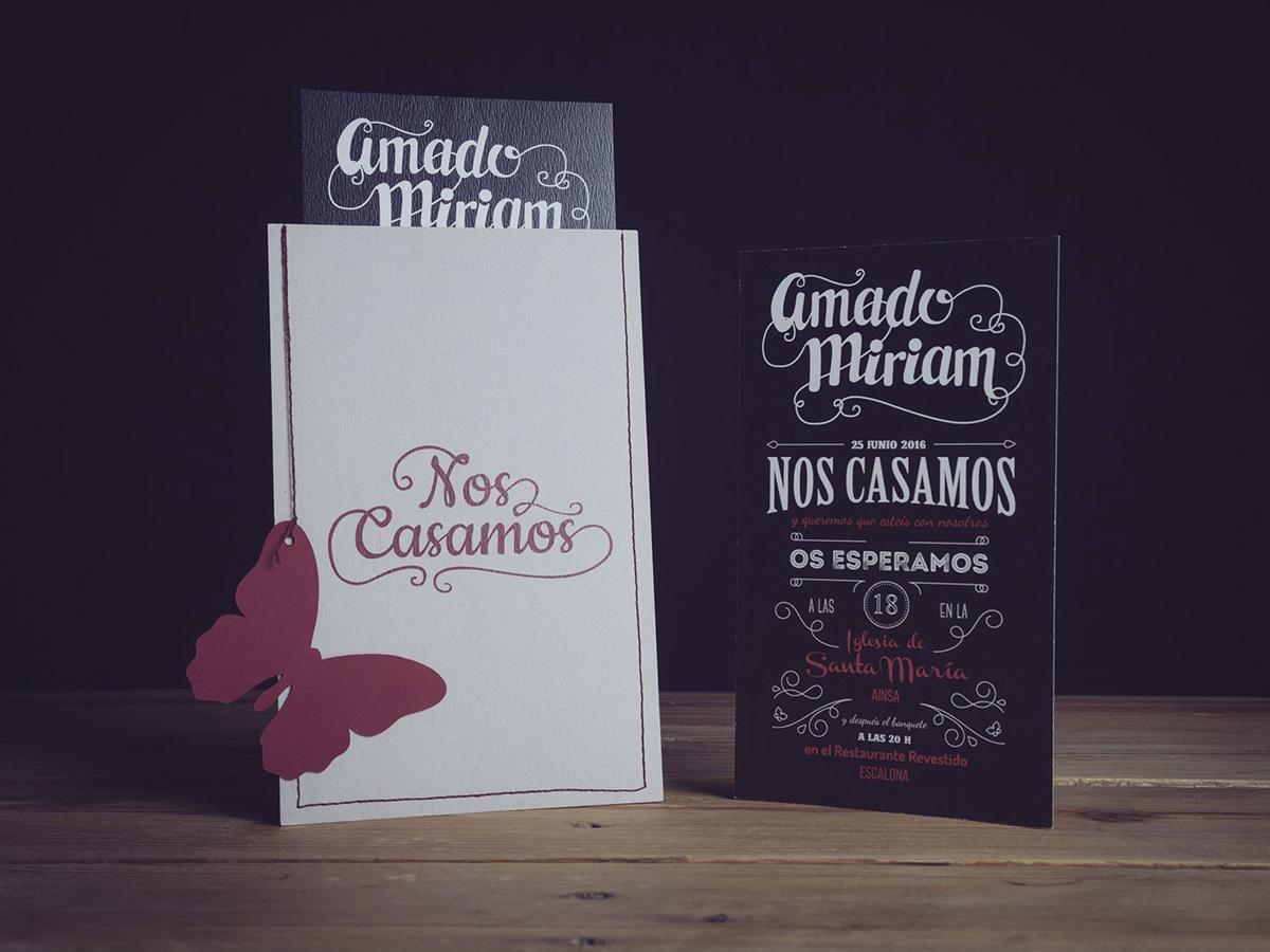 Invitaciones de Boda Miriam y Amado Ainsa