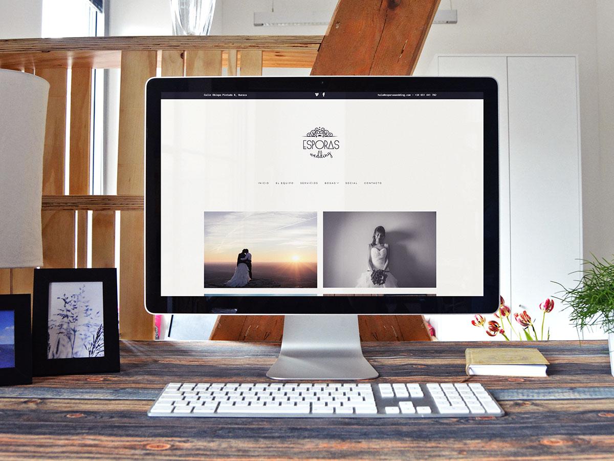 Web Design Esporas Wedding