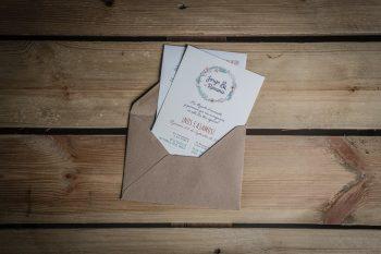 Diseño Invitaciones de Boda Jorge y Rosana Zaragoza