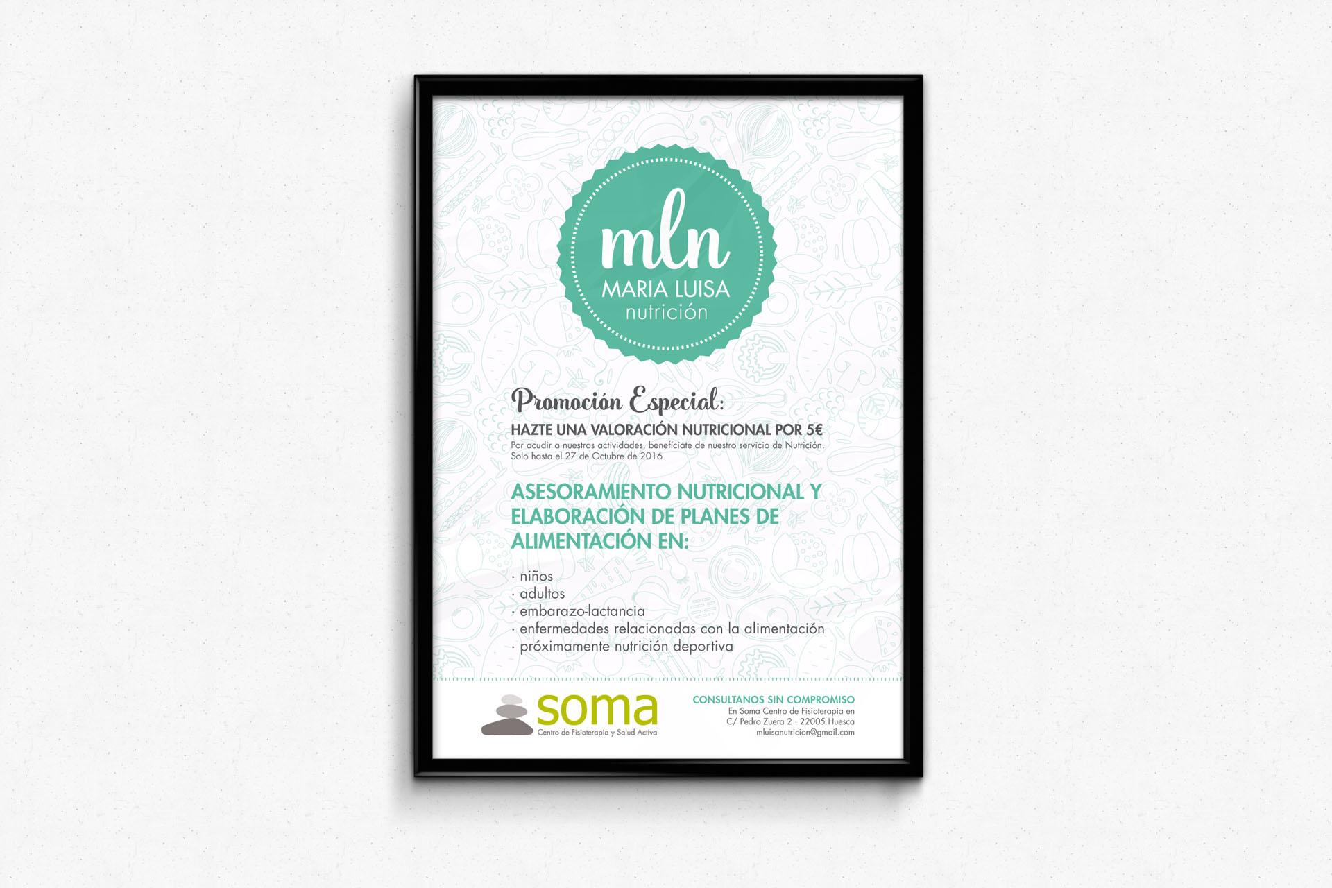 Diseño cartel promocional Maria Luisa Nutricion