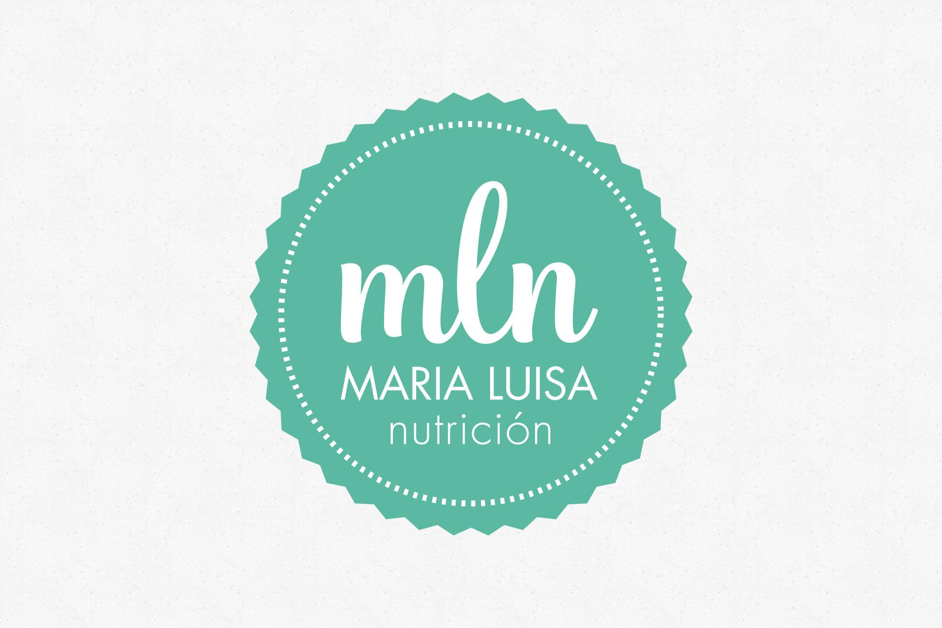 Diseño Logotipo Maria Luisa Nutrición