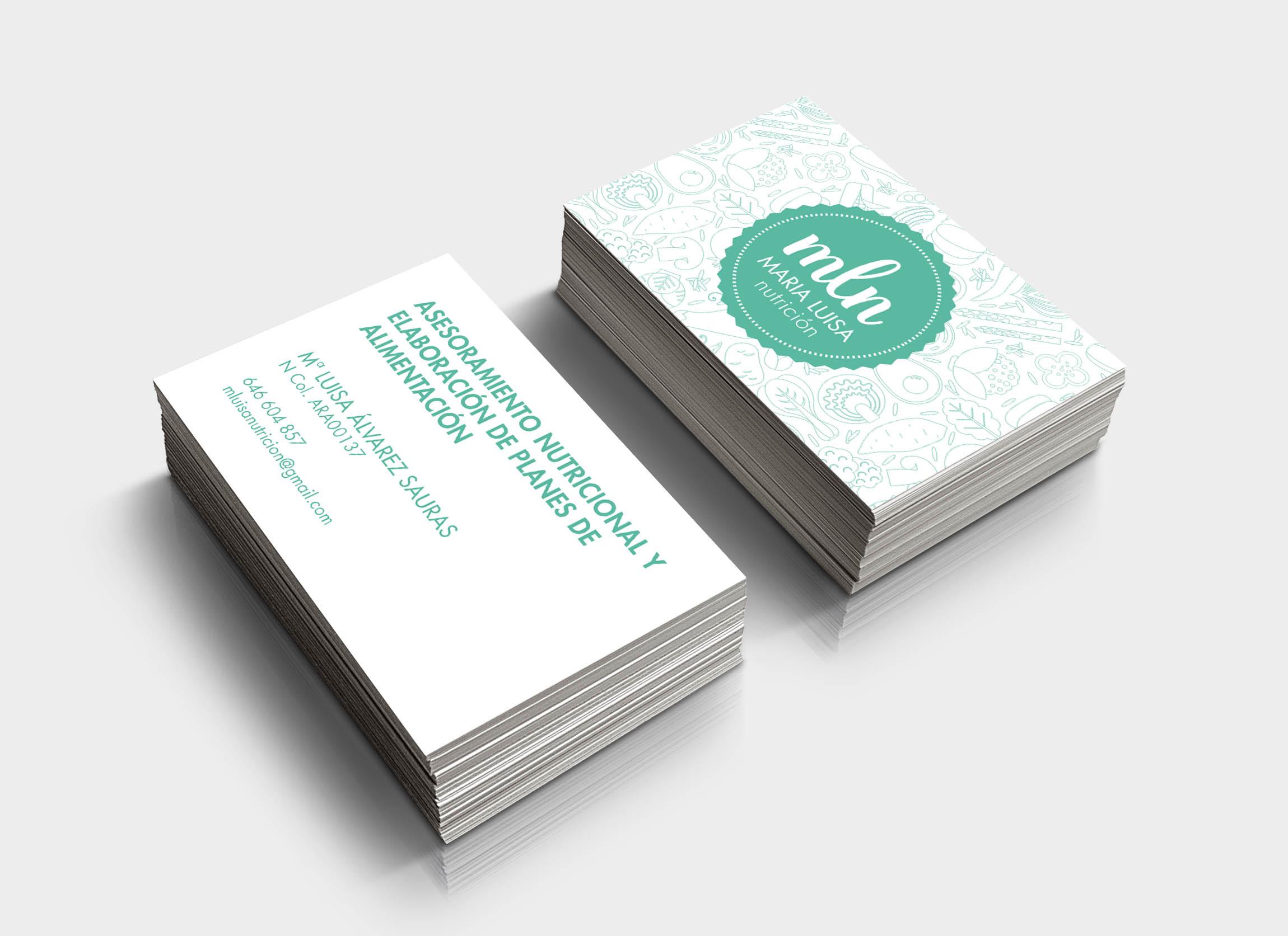 Diseño tarjeta de visita Maria Luisa Nutricion