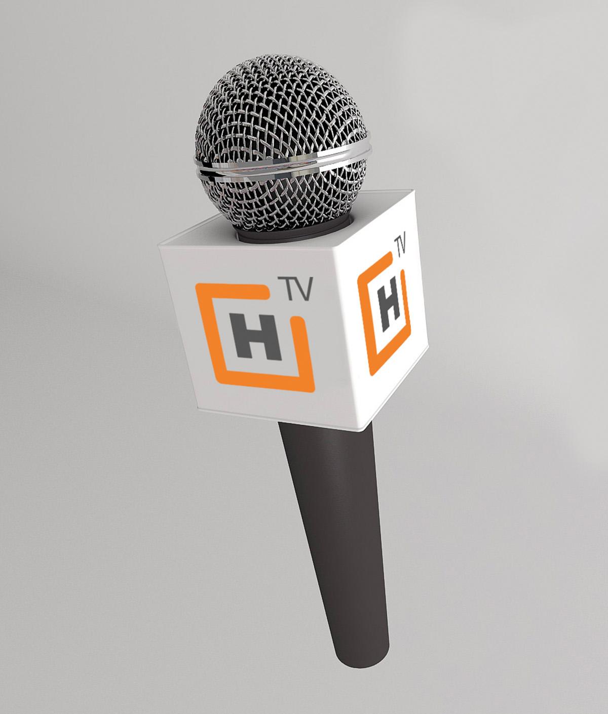 Aplicacion microfono logotipo HTV
