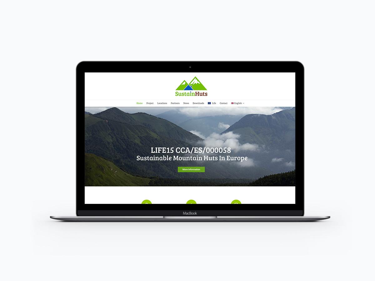 Web Design SustainHuts Fundacion Hidrogeno de Aragon