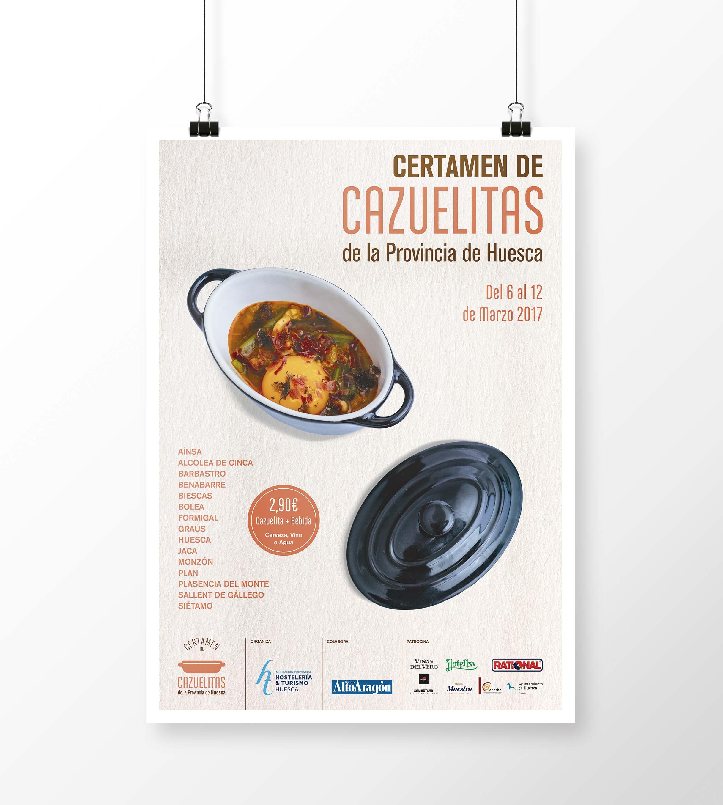 Cartel Certamen de Cazuelitas Provincia de Huesca 2017