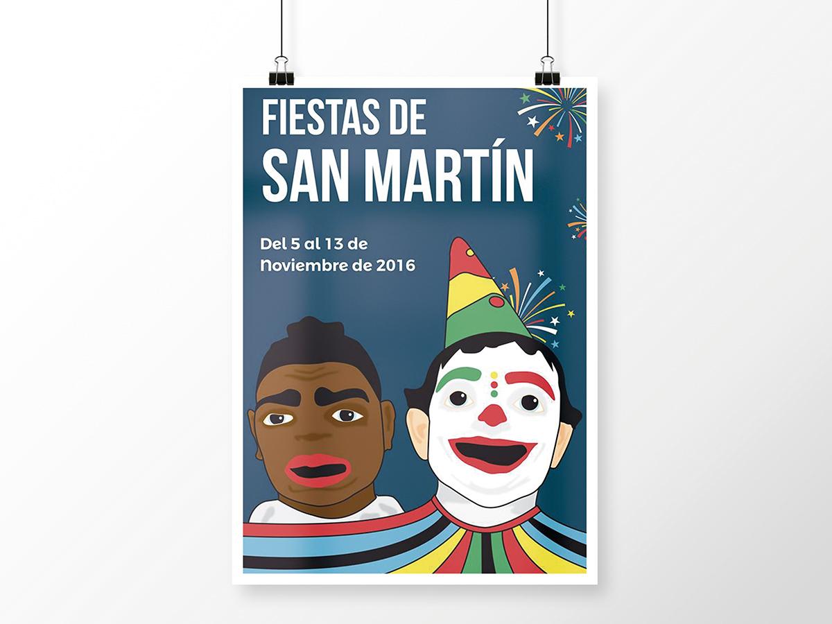 Ilustracion Digital Cartel Barrio San Martin