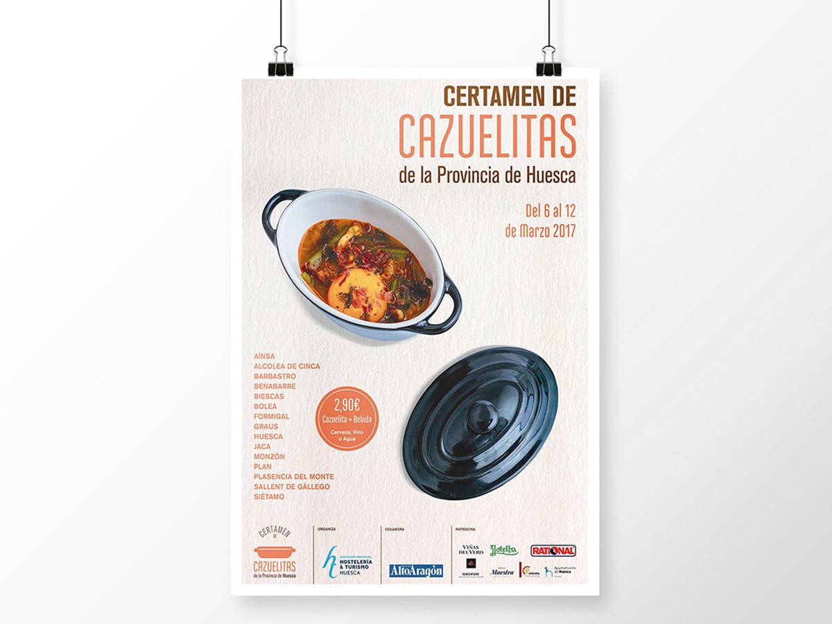 Cartel Certamen de Cazuelitas Provincia de Huesca