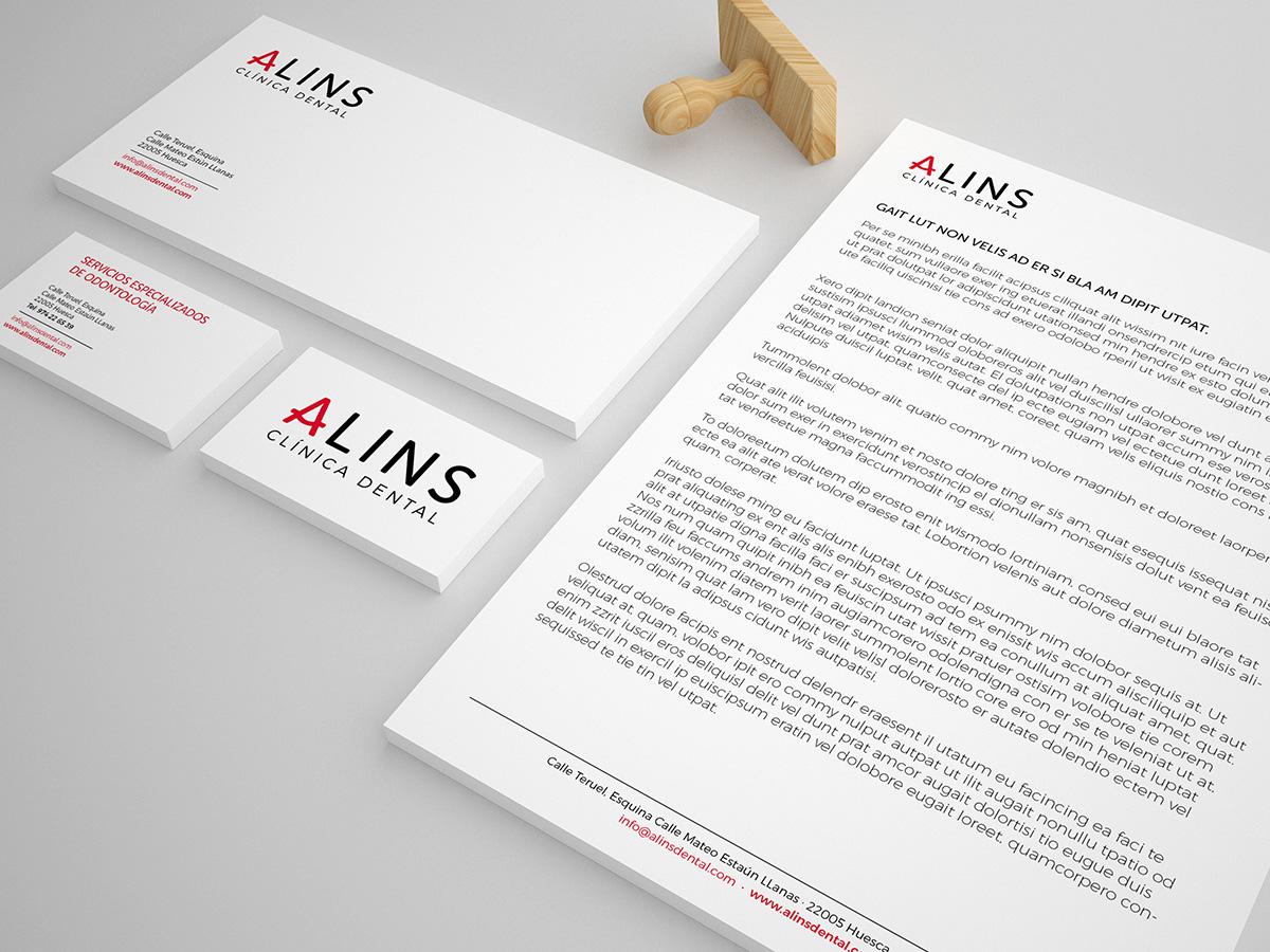 Diseno grafico Alins Clinica Dental Huesca