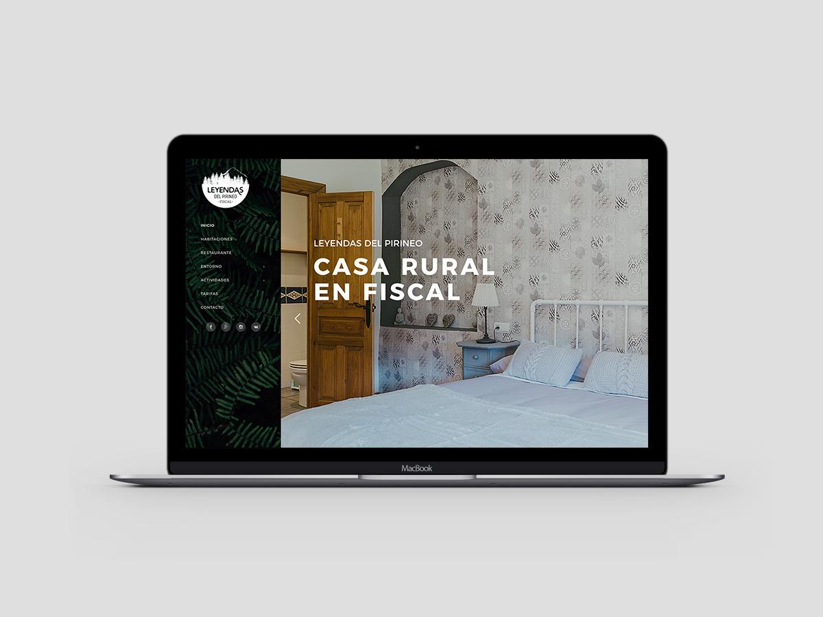 Web Casa Rural Leyendas del Pirineo