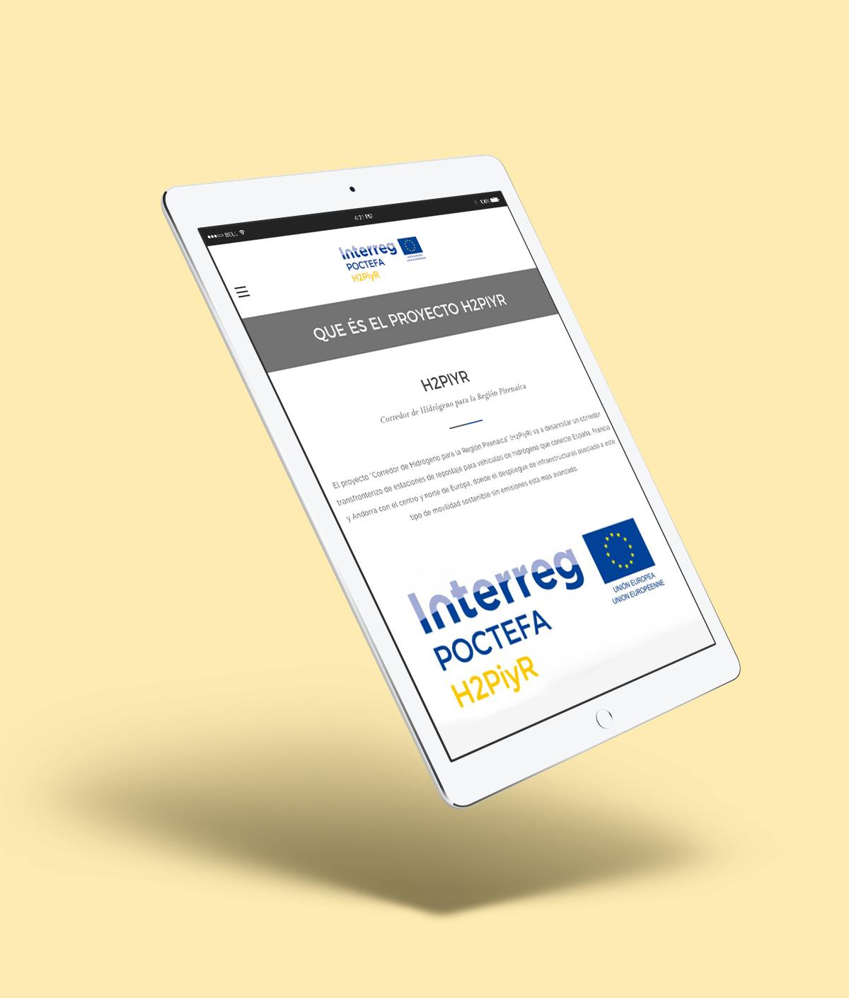 Web Proyecto H2piyR FHA tablet